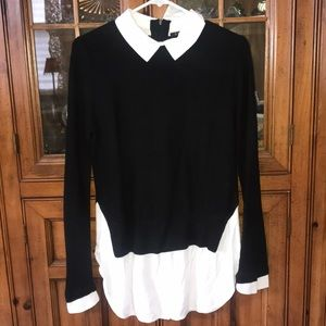Tops - Layered collared sweater shirt size small